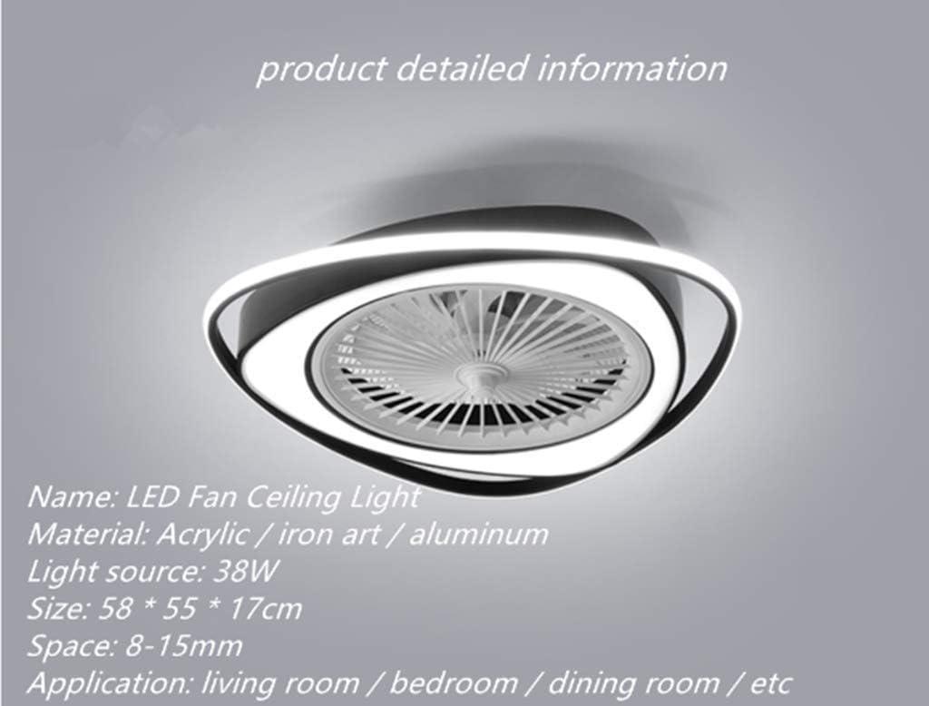 HGW LED Fan Deckenleuchte Deckenventilator Mit Beleuchtung Fernbedienung Leise Dimmbar Einstellbare Windgeschwindigkeit Beleuchteter Deckenventilator