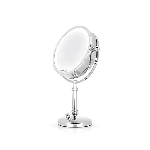 Orbegozo ES 5140 Espejo de maquillaje con luz LED de intensidad regulable doble cara y aumento 5X