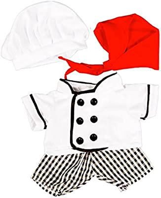 7e228fae Amazon.com: Gourmet Chef Outfit Teddy Bear Clothes Fits Most 8