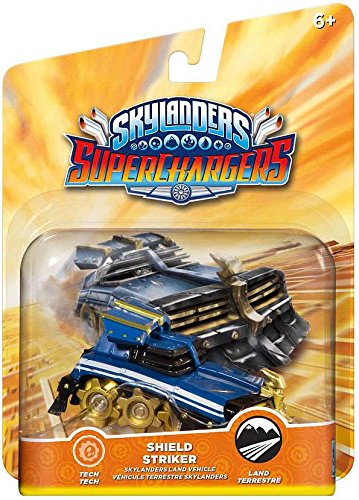 Skylanders Superchargers Rare Chase Variant Patina Shield Striker