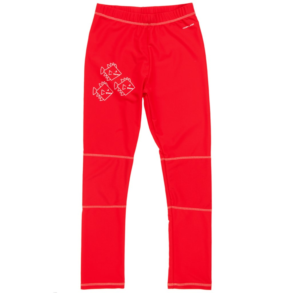POLARN O. PYRET RASH GUARD ECO UV SURFER PANTS (6-12 YRS) - 8-10 years/Strawberry