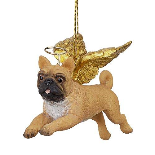 Dog Christmas Holiday Ornament Tree - Design Toscano Christmas Tree Ornaments - Honor The Pooch Pug Holiday Angel Dog Ornaments - Christmas Decorations