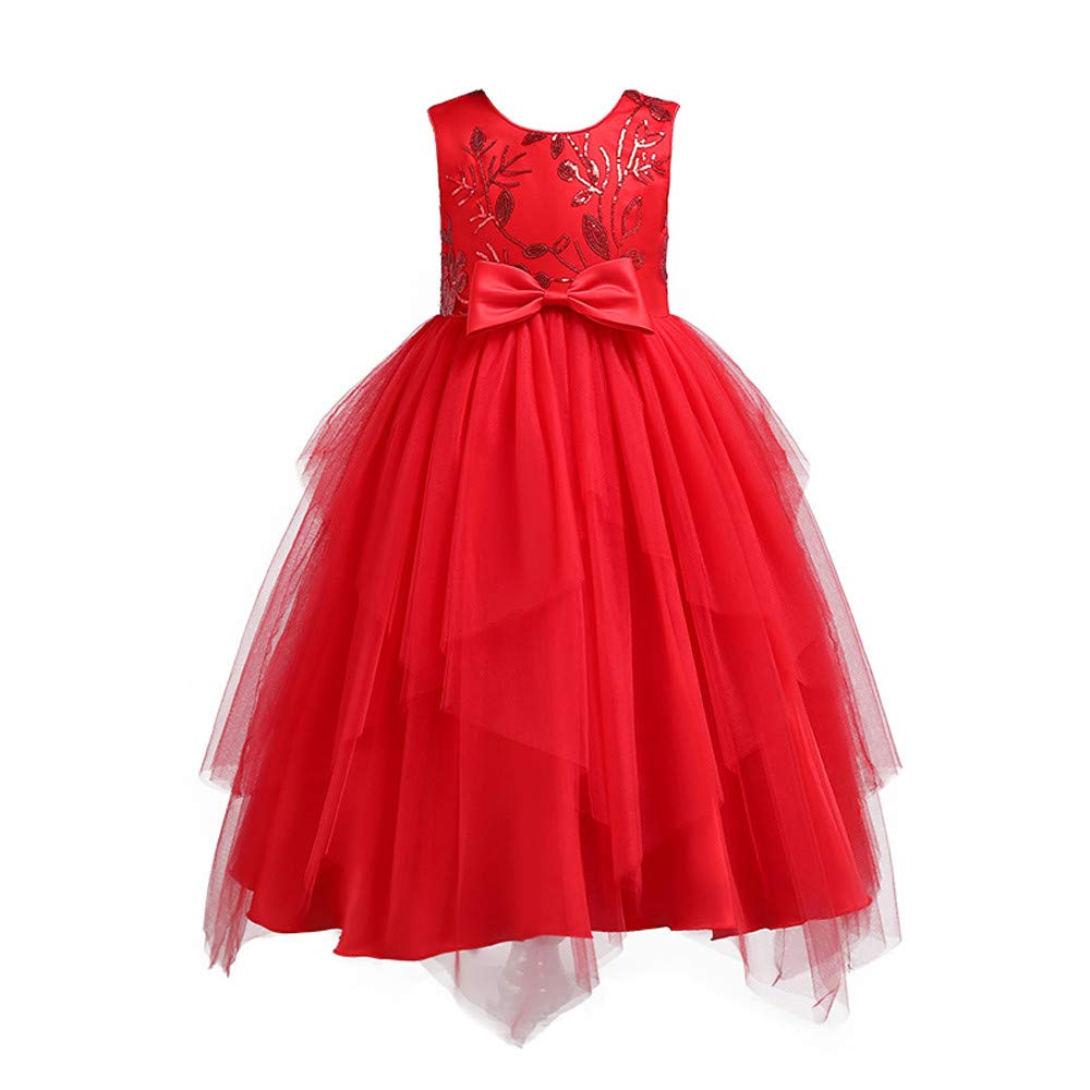 Memela Baby Clothes,Baby Girls Birthday Christening Dress Baptism Wedding Party Flower Dress with Bowknot for Newborn Infant