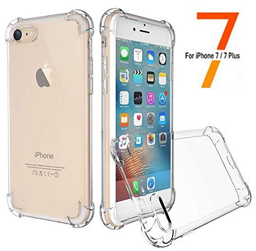 [해외]아이폰 7 케이스, ALIWELL 아이폰 7 케이스 소프트 TPU 슬림 피트 보호용 크리스탈 클리어 케이스 커버 [Anti-shock] 아이폰 7 용 2 개의 HD 강화 유리로 4.7 '/iPhone 7 Cas