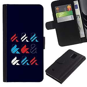 LASTONE PHONE CASE / Lujo Billetera de Cuero Caso del tirón Titular de la tarjeta Flip Carcasa Funda para Samsung Galaxy Note 4 SM-N910 / And Sign Calligraphy Minimalist Style