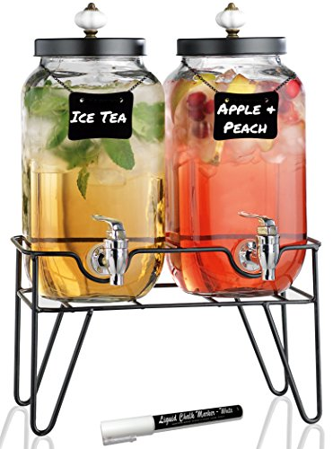 glass beverage dispenser on stand - 7