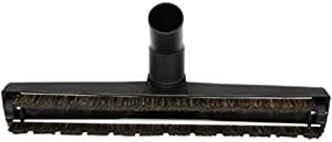 Lucys Home Goods Hard Surface Floor Brush 1 1/4 (32mm) with Two Rubber Wheels And Soft Horse Hair Bristles vacuum cleaner attachment 12 inch wide 1 & 1/4 INCH DELUXE FLOOR BRUSH