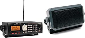 "Whistler WS1065 Desktop Digital Scanner Bundle with RoadPro RPSP-15 Universal CB Extension Speaker with Swivel Bracket, 2-3/4 x 4-1/2"", Black"