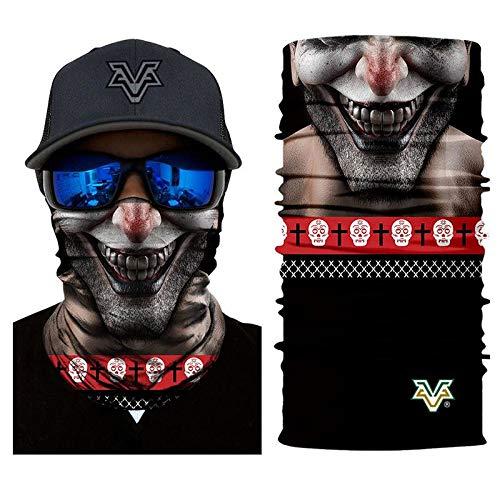 Headband Headscarf Bandana Joker Scary Smile Mask Superhero Face Cosplay Scarf Tube Neck Full Lower Half Shield Sun Hiking Airsoft Paintball No.233 -