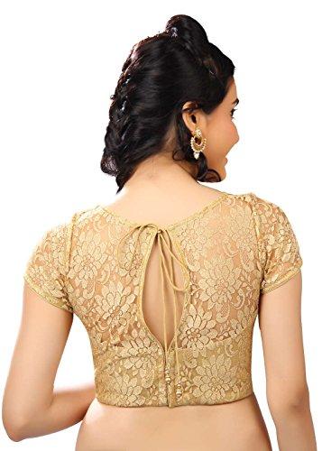 Saris-and-Things-Fancy-Gold-Net-Fabric-Party-wear-Saree-Blouse-Sari-Choli-X-269-SL