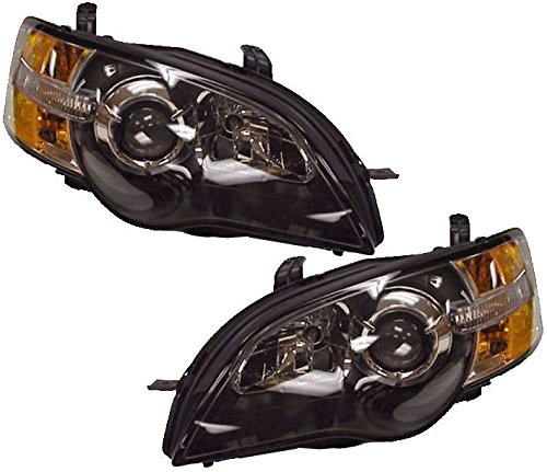 Front Headlights Headlamps Lights Lamps LH & RH Pair Set for 05-06 Subaru Legacy (Subaru Lamp Headlight Headlamp Legacy)