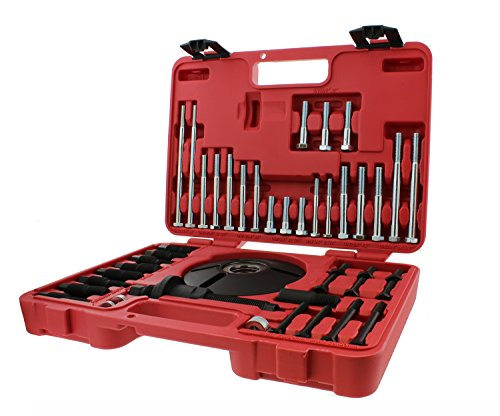 ABN Universal Harmonic Balancer Puller & Installer 52-Piece Tool Kit - Master Balancer & Pulley Removal/Installation Set