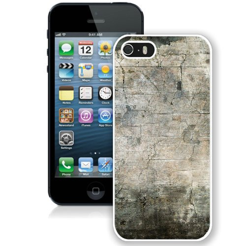 Coque,Fashion Coque iphone 5S Concrete Wall Abstract blanc Screen Cover Case Cover Fashion and Hot Sale Design