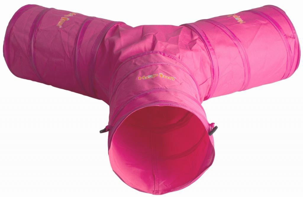Spieltunnel für Katzen / Kaninchen, Y-Form, Pink, ideal für große Kaninchen und Katzen Hop Inn