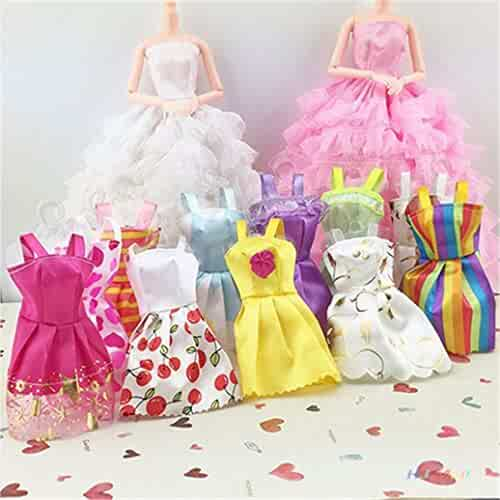 c733c81eb4d Barbie Clothes 58Pcs Princess Dress Accessories Shoes Clothes For Barbie  Doll Include 10 Pcs Barbie Clothes