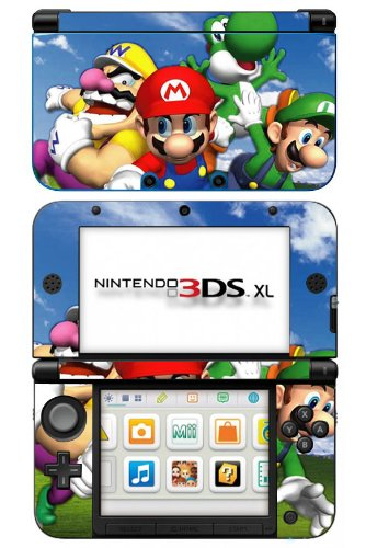 Super Mario 3D World Game Skin for Nintendo 3DS XL Console