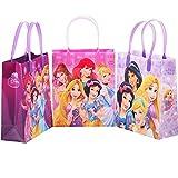DIsney Princess 12 Premium Quality Party Favor Reusable Medium Plastic Gift Goodie Bags 8'