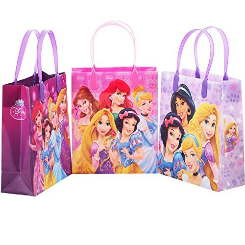 DIsney Princess 12 Premium Quality Party Favor Reusable Medium Plastic Gift Goodie Bags 8