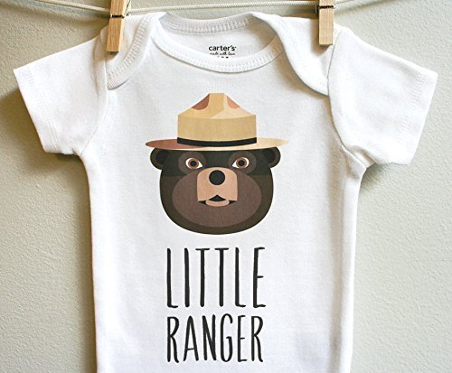 Smokey the Bear Boy Girl Baby Clothes Bodysuit Short Long Sleeve Newborn 3 6 9 12 18 24 Months Layette Apparel