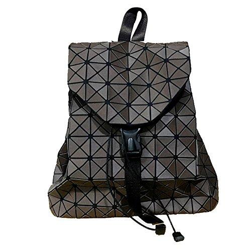 Aoligei Sac à dos femme japonaise géométrie Ling Ge-lumière brossé double sac à bandoulière K