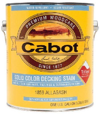 - Cabot Solid Color Acrylic Decking Stain Acrylic Exterior White Opaque 1 Gl