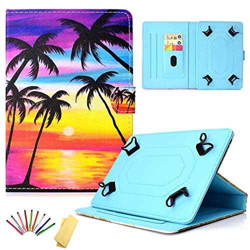 Universal Case for 7 inch Tablet, Uliking PU Leather Folio Stand Cover with Cards Holder for Galaxy Tab A 7.0, Kindle Fire 7, Galaxy Tab 3/Tab E Lite 7.0 and other 6.5