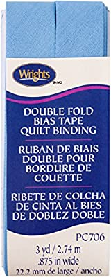 Wrights Delft Double Fold Quilt Binding 7//8 x 3 yd