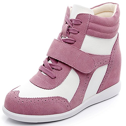 rismart Women's Wedge Heel Hook&Loop Brogue High Top for sale  Delivered anywhere in Canada