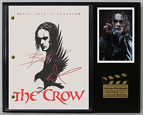 THE CROW LTD EDITION REPRODUCTION SIGNED CINEMA SCRIPT DISPLAY