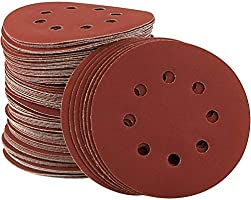 110 Pcs 8 Holes Sanding Discs STARVAST 5 inch Round Hook and Loop Pad Assorted 40 60 80 100 120 150 180 240 320 400 800 Grits for Bosch and Dewalt Random Orbital Sander