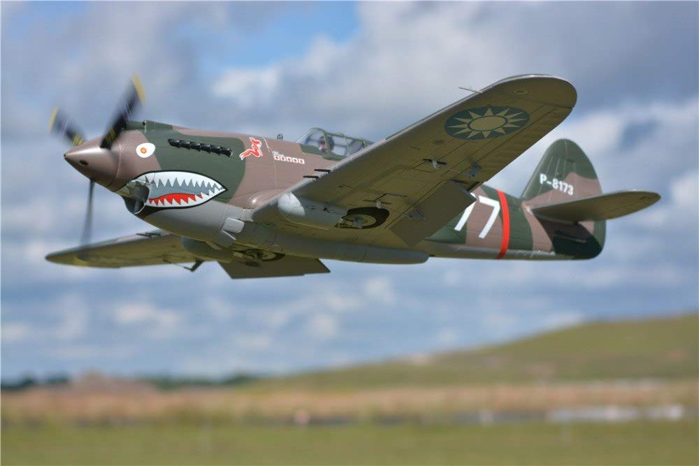 Generic FMS 1400mm 1.4M (55.1 ) P40 P40B Warhawk Flying Tiger 6CH with Flaps Retracts LED PNP RC Airplane Warbird Model Plane Aircraft