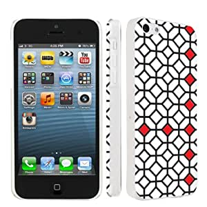 Apple iPhone 5c Ultra Slim Light Weight Clear Plastic Cover Case By SkinGuardz - Blackand White Fun