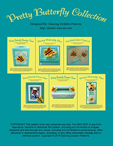 Pretty Butterfly Collection: 6 Plastic Canvas Patterns