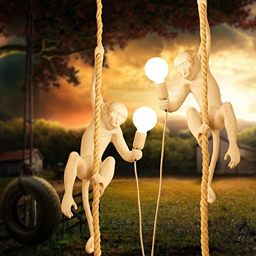 LightInTheBox Artistic Chic Modern Chandelier Ceiling Pendant Light Hung Lighting Monkey on the Rope Light Fixture for Kids Room Game Room 110-120V Bulb Included (Warm White)