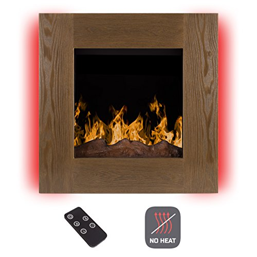 Northwest Electric LED Fireplace Wall Mounted with 13 Backlight, 10 Flame Colors, Timer and Remote Control NO Heat, 24