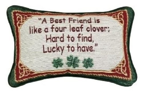 Manual 12.5 x 8.5-Inch Decorative Throw Pillow, Irish Treasures Best Friend (Pillow Friend)