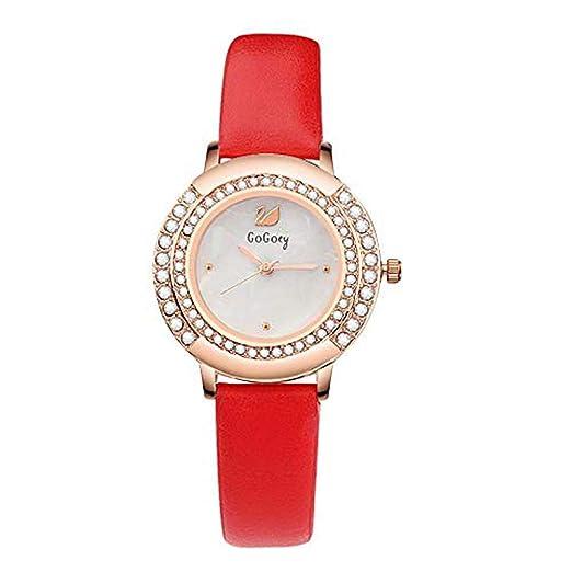 Hermosos Relojes Gogoey Moda Reloj Reloj Correa Estudiante de Cuadro: Amazon.es: Relojes