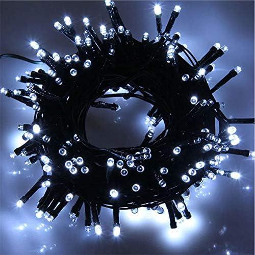 400 LED 28M Luci Albero di Natale Luci di Natale Esterno ed Interno Catena Luminosa 8 Modalità Luci da Stringa per Esterni, Giardini, Case, Matrimonio, Natalizie (Bianco Freddo, 400LED)