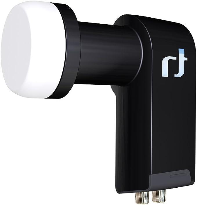 Inverto UltraTwin - Convertidor de señal satélite universal LNB, 40 mm, color negro