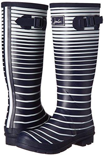 Navy De Pluie Femme Print Stripe French Joules Ombre Pour Bottes Welly q1Hnwt8