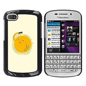Paccase / SLIM PC / Aliminium Casa Carcasa Funda Case Cover para - Sun Art Curly Hair Comb Morning Happy - BlackBerry Q10
