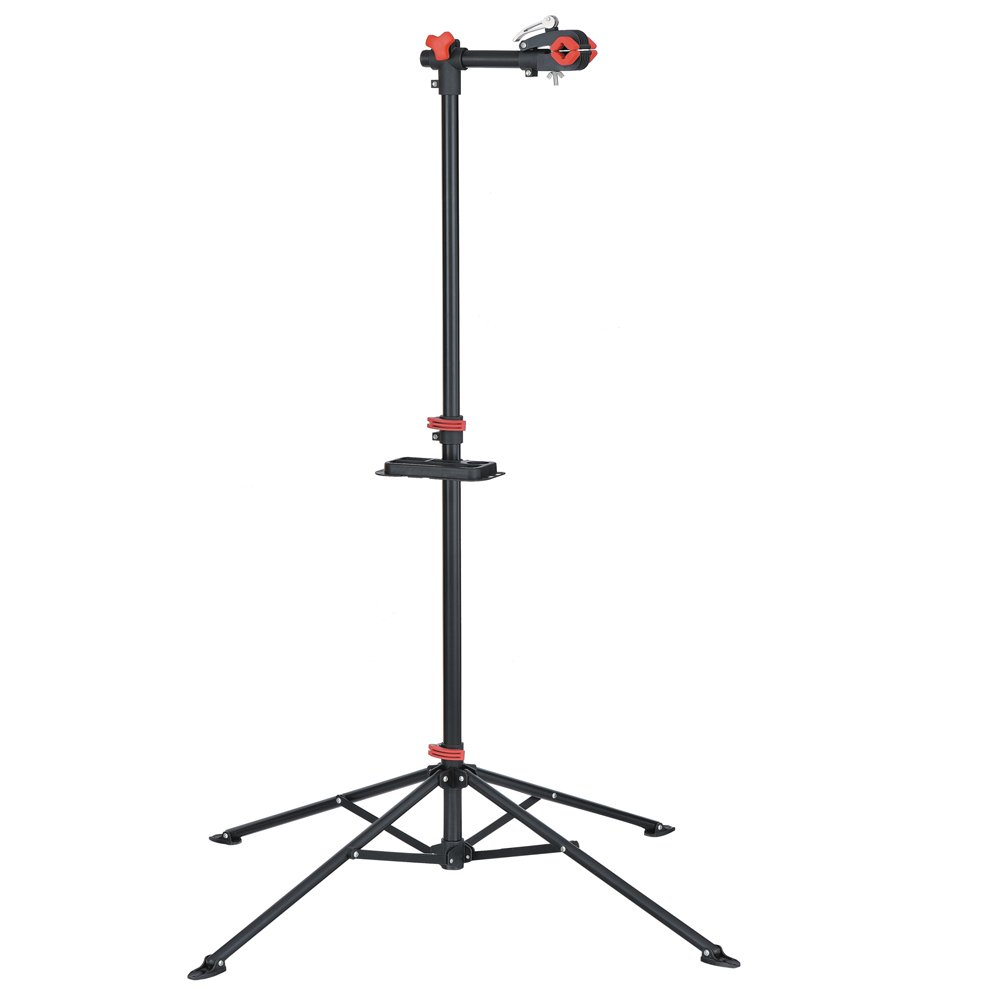 unisky Foldable Mountain Bike Repair Rack Stand, Adjustable Height Bicycle Maintenance Rack Workstand with Tool Tray by unisky