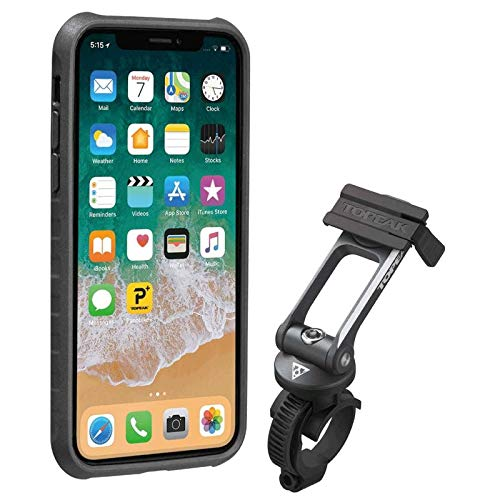 Topeak Ridecase TT9855BG iPhone X Case w/Ridecase Mount Black/Grey ()