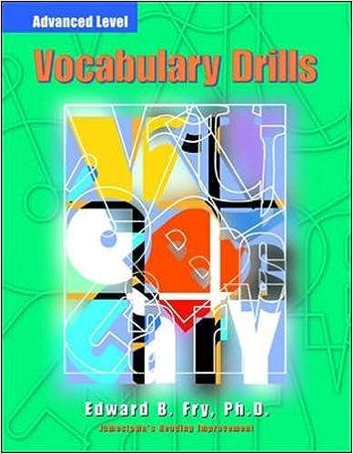 Book Vocabulary Drills: Advanced