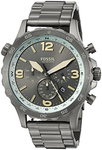 Fossil-Mens-JR1517-Nate-Compass-Chronograph-Black-Stainless-Steel-Watch