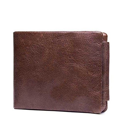 cross Men's magnetic section with surface handbag The of the purse soft LIGYM leather buckle a ftqwvp