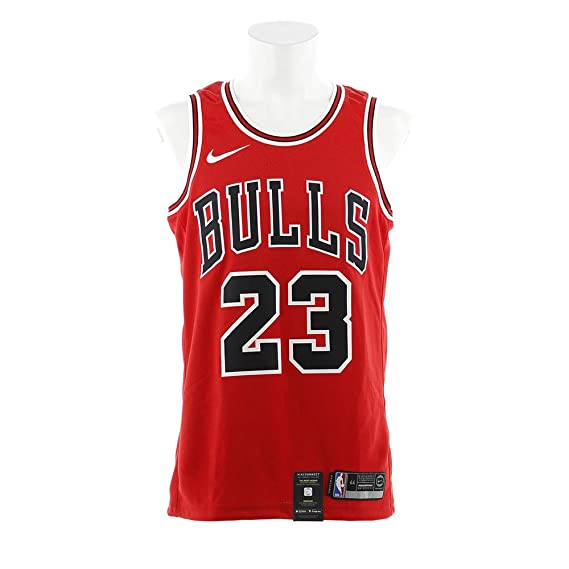 new concept 29642 07865 NIKE Swingman Chicago Bulls Jersey Red Michael Jordan #23 ...
