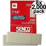 Senco M006100 2000pk 7/16'' Leg 18 Gauge Plastic Composite Brad Nail 8-Pack