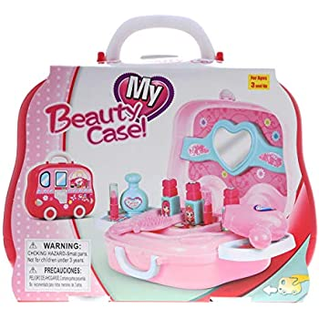 b8c84e9435960 KidPlay Products Little Girls Pretend Makeup Kit Cosmetic Pretend Play Set  Kids Beauty Salon 11pc