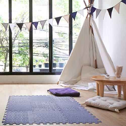 Dooboe Interlocking Foam Mats - Foam Floor Tiles - Baby Girl Foam Mat - EVA Foam - Ideal for Yoga, Tummy Time, Crawling, and Protective Flooring - Purple -